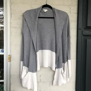 Soft Joie wool blend thermal knit hooded cardigan